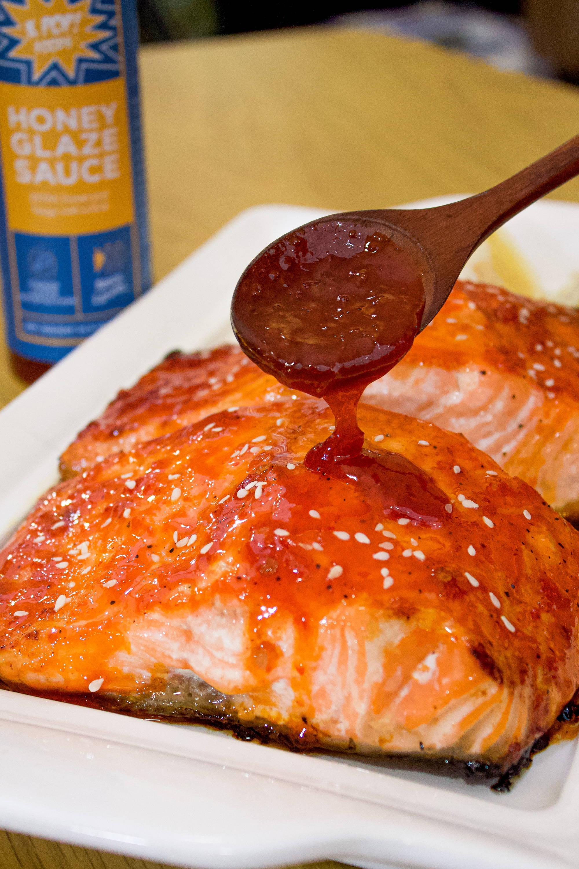 honey glazed salmon baked min serves prep cook kpop