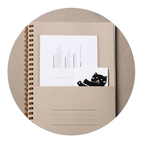 Paper pocket - B&C 6 months spiral undated daily planner