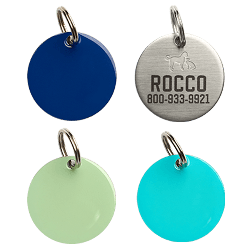 Rocco and Roxie Laser Engraved Personalized Dog Tag