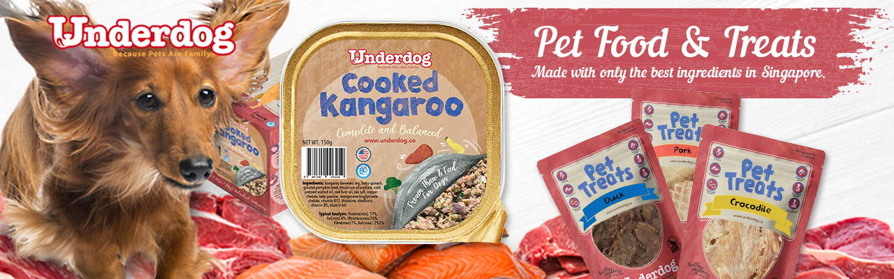 Underdog dog food collection banner 1