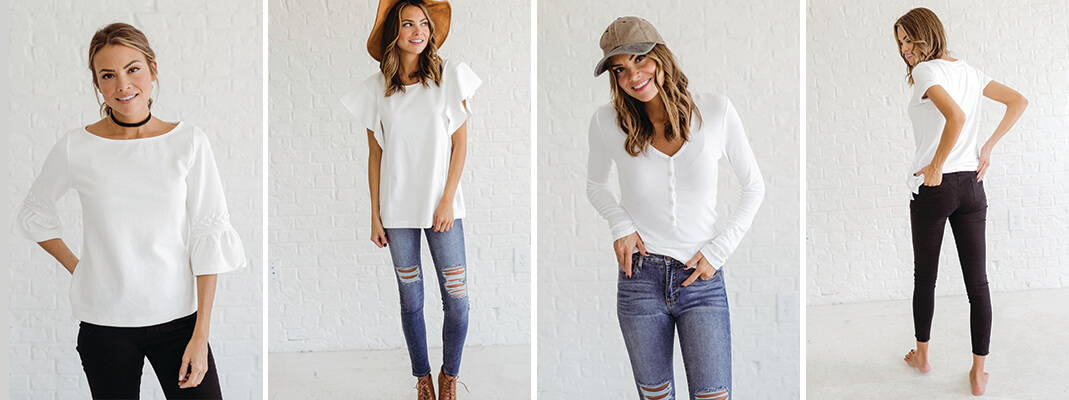 wardrobe essentials plain white tee