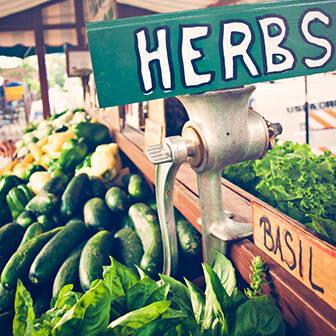 High Quality Organics Express Fresh Herbs at Market