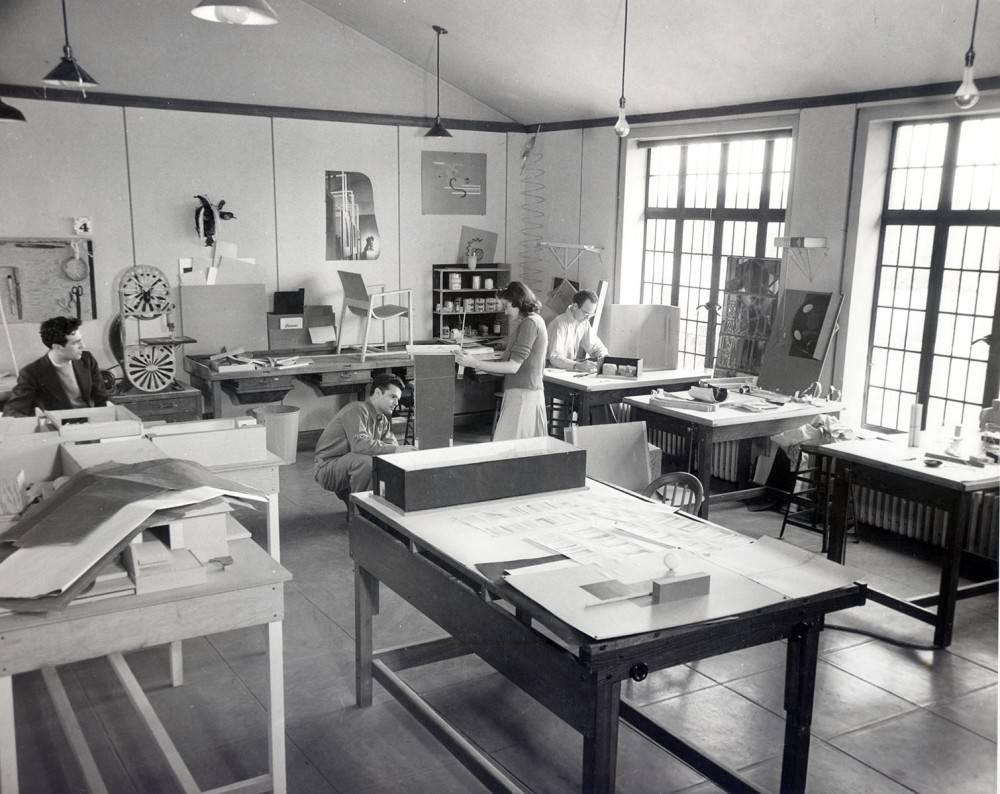 The art studio at Cranbrook school in Michigan.