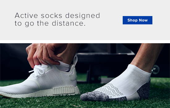 Active sock designed to go the distance.