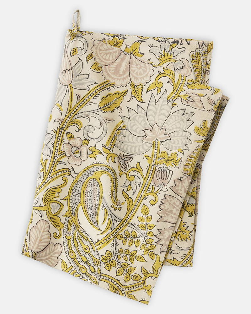 Product photography of Peacock Curry Kitchen Towel from Bungalow for The Hambledon