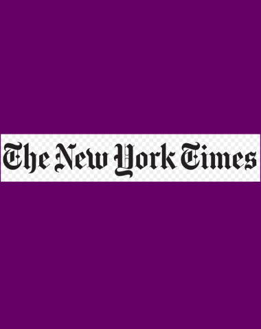 Purple rectangle icon with The New York Times logo in center