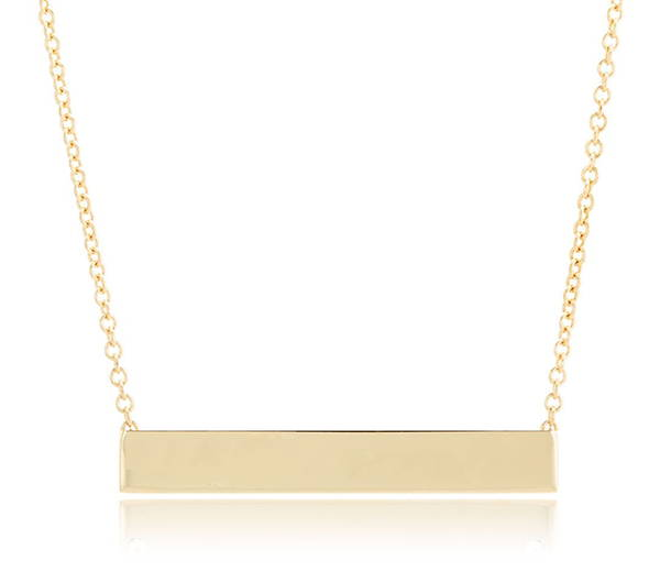 Engravable Bar Necklace
