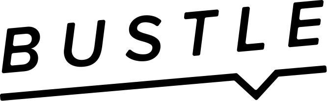 The Bustle logo with the text