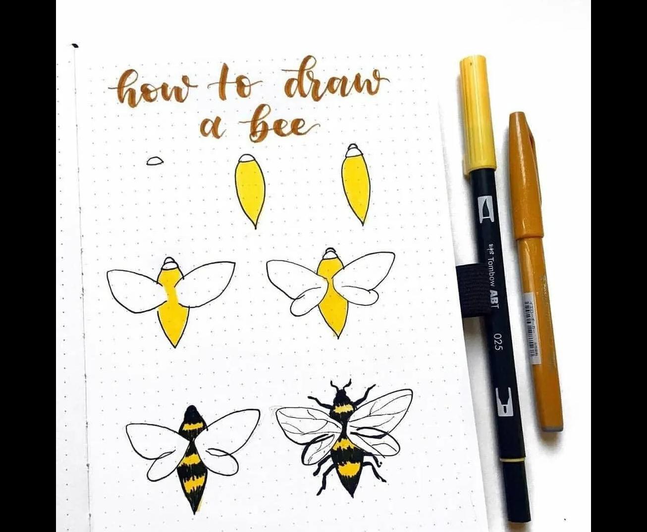 Con ong vẽ nguệch ngoạc