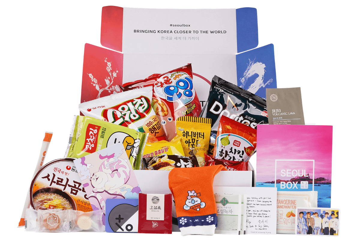 Korean box stationery snack goody kpop merch gift online