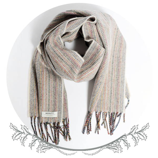 McNutt X The Hambledon Limited Edition Heritage Oatmeal Lambswool Scarf