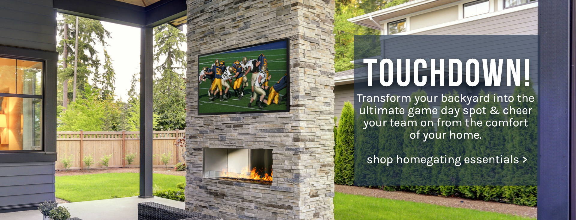 Touchdown! Transform your backyard into the ultimate game day spot & cheer your team on from the comfort of your home.