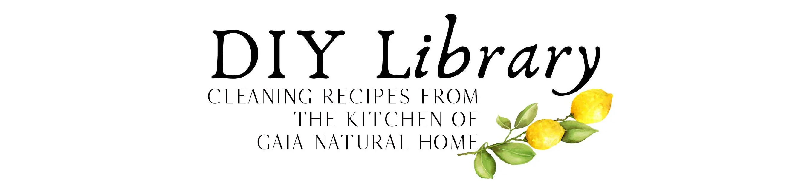 DIY Library. Cleaning recipes from Gaia Natural Home
