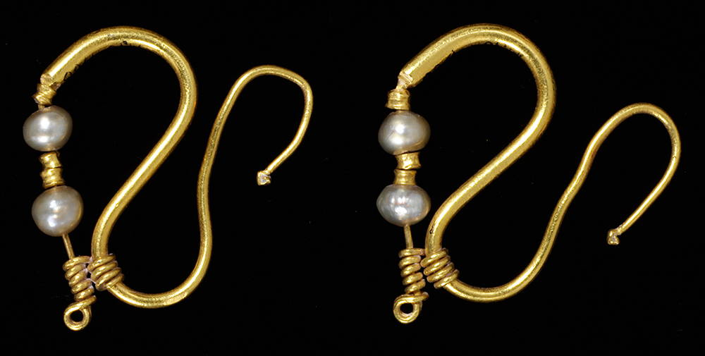 Roman Era Pearl Earrings