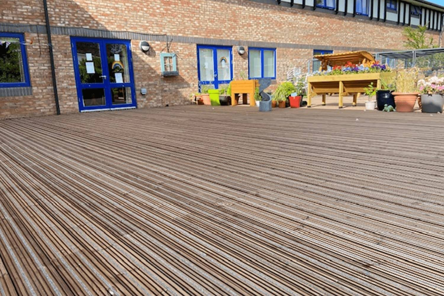 Non-Slip Decking Area at Hospital