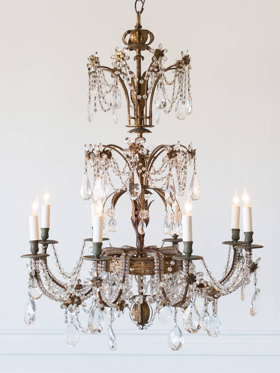 Antique French Floral Chandelier CHVP16166-A