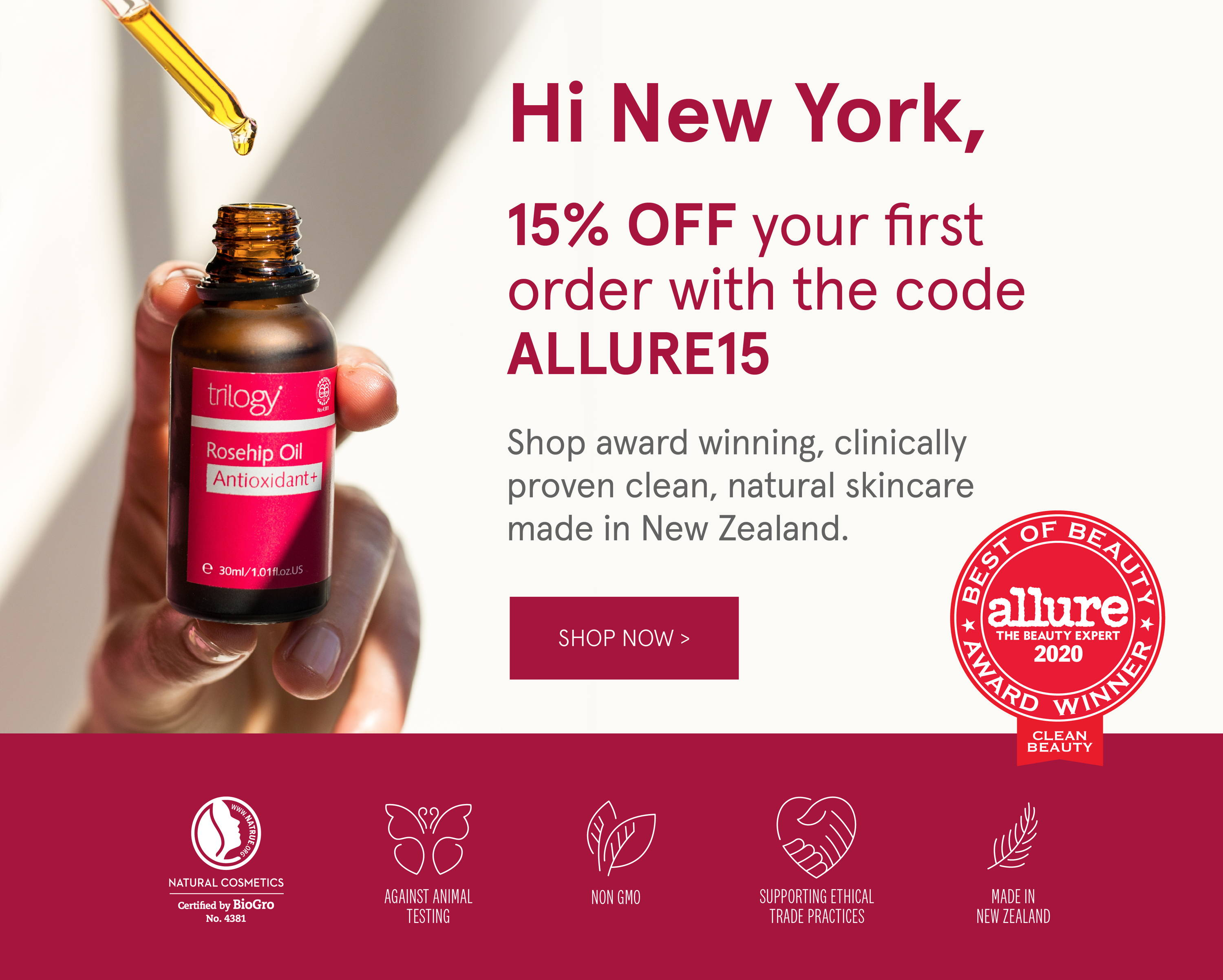 15% off your first order with code ALLURE15