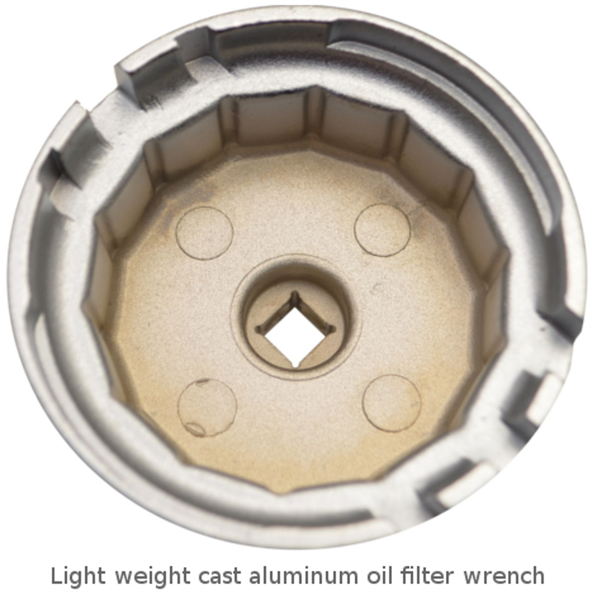 Example of a lightweight aluminum oil filter wrench