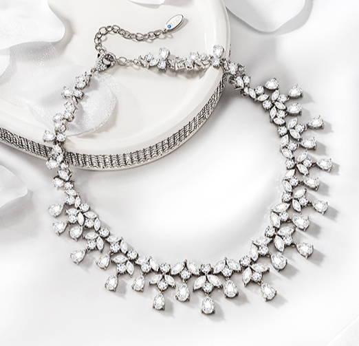 Cubic Zirconia Necklace For Brides