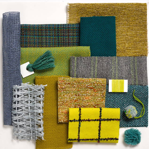 Knoll Textiles plaid fabric swatches