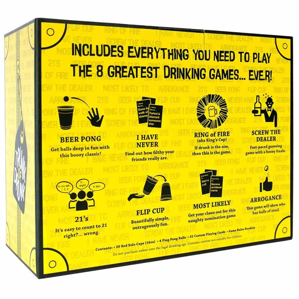 Trunk of Drunk box with 8 best drinking games