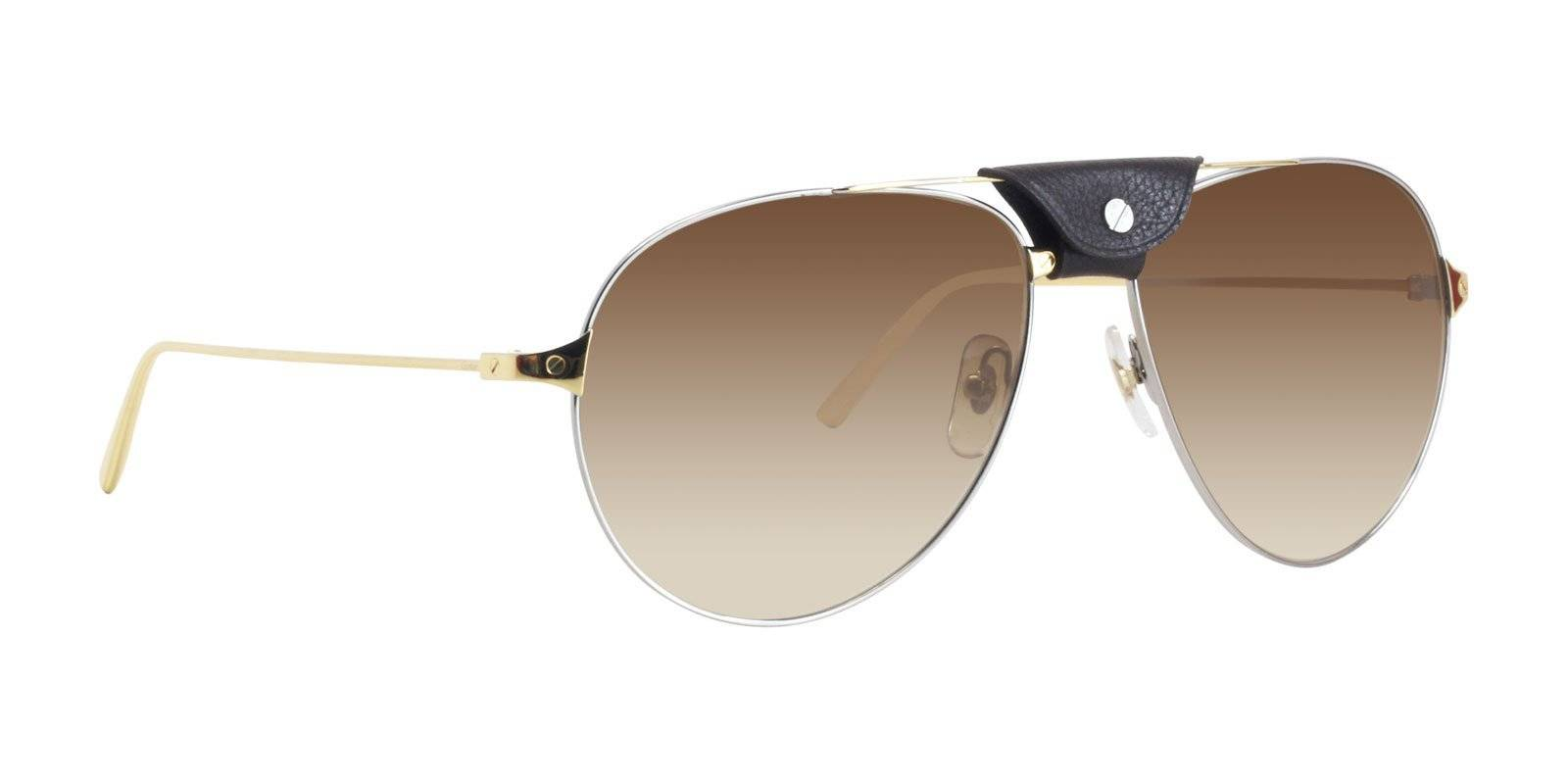 16eb6645586 The Cartier Santos Dunmont sunglasses feature a polarissed lenses to  eliminate any dazzle and give visual comfort and protection. Metal Santos  de Cartier ...