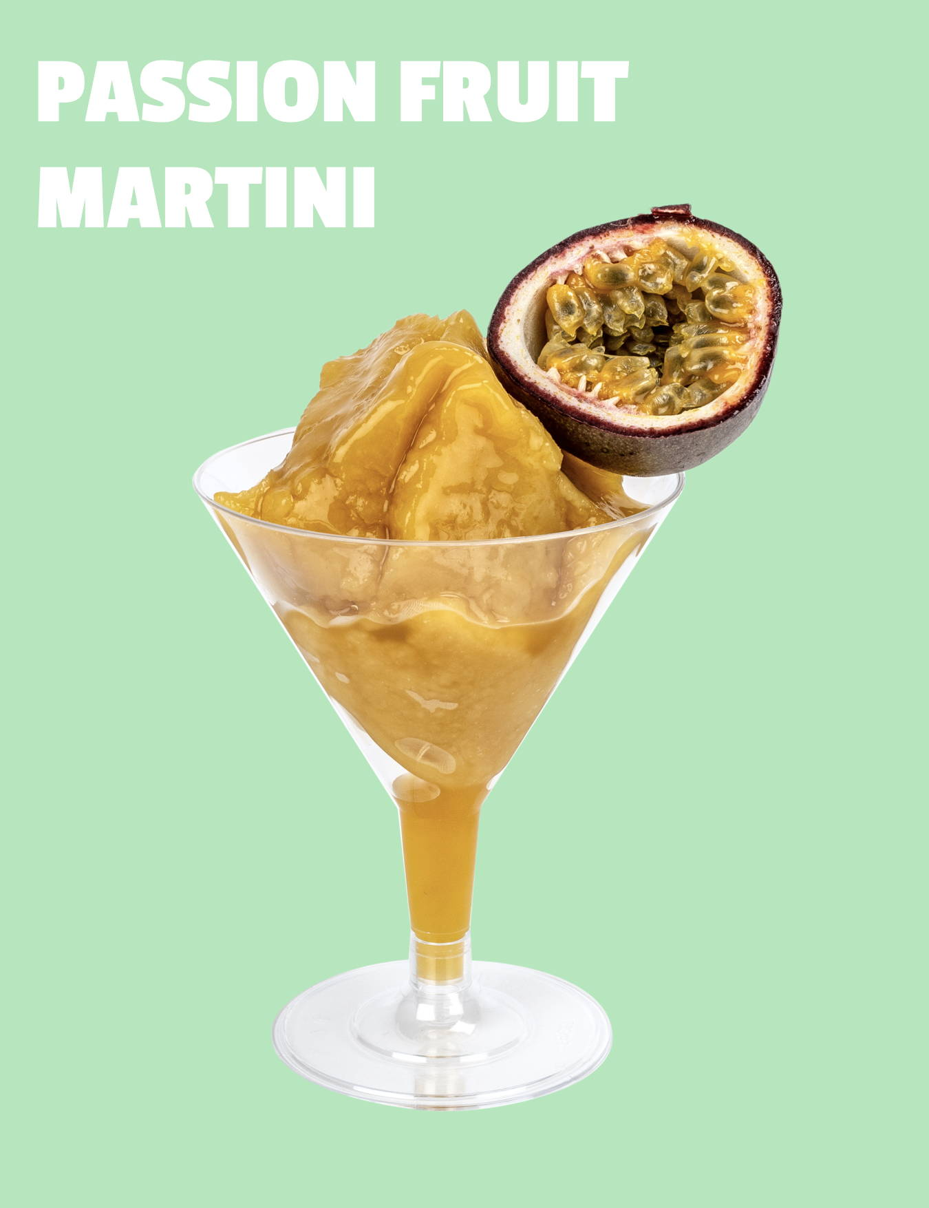 iced passion fruit martini