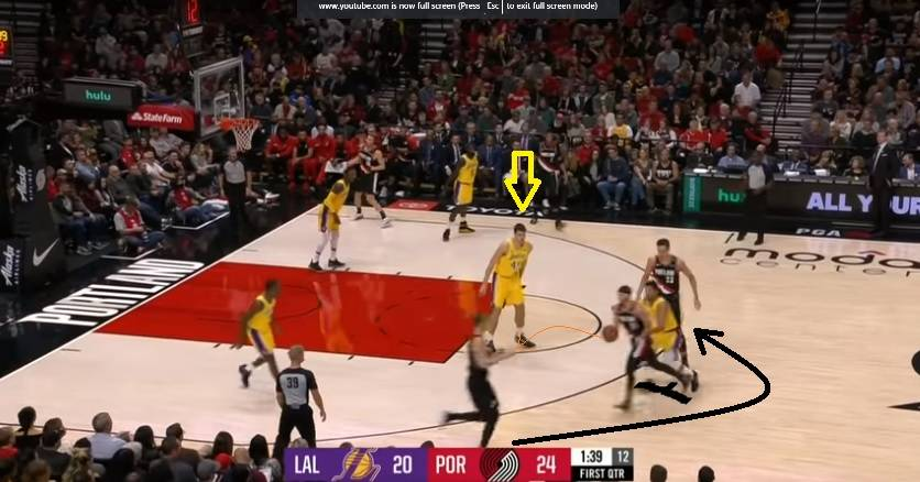 Pick and roll action after hand off