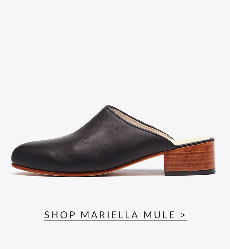 Shop Mariella Mule in black