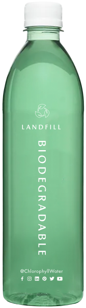 Biodegradable chlorophyll water bottle
