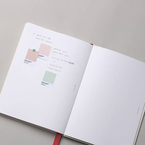 Blank note - Dash And Dot 2020 Pro red bookmark dated weekly planner