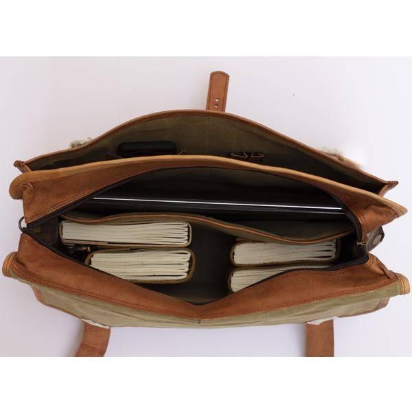 Men's Leather Laptop Messenger Bag Briefcase - Full Grain Leather