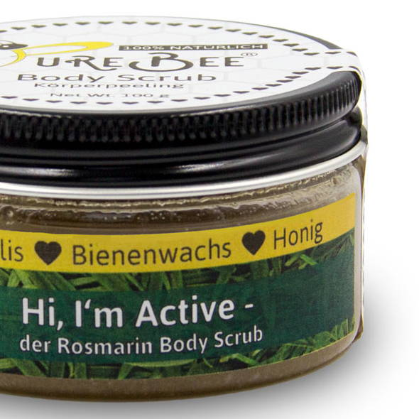 Hi, I'm Active - The Rosemary Body Scrub | PureBee