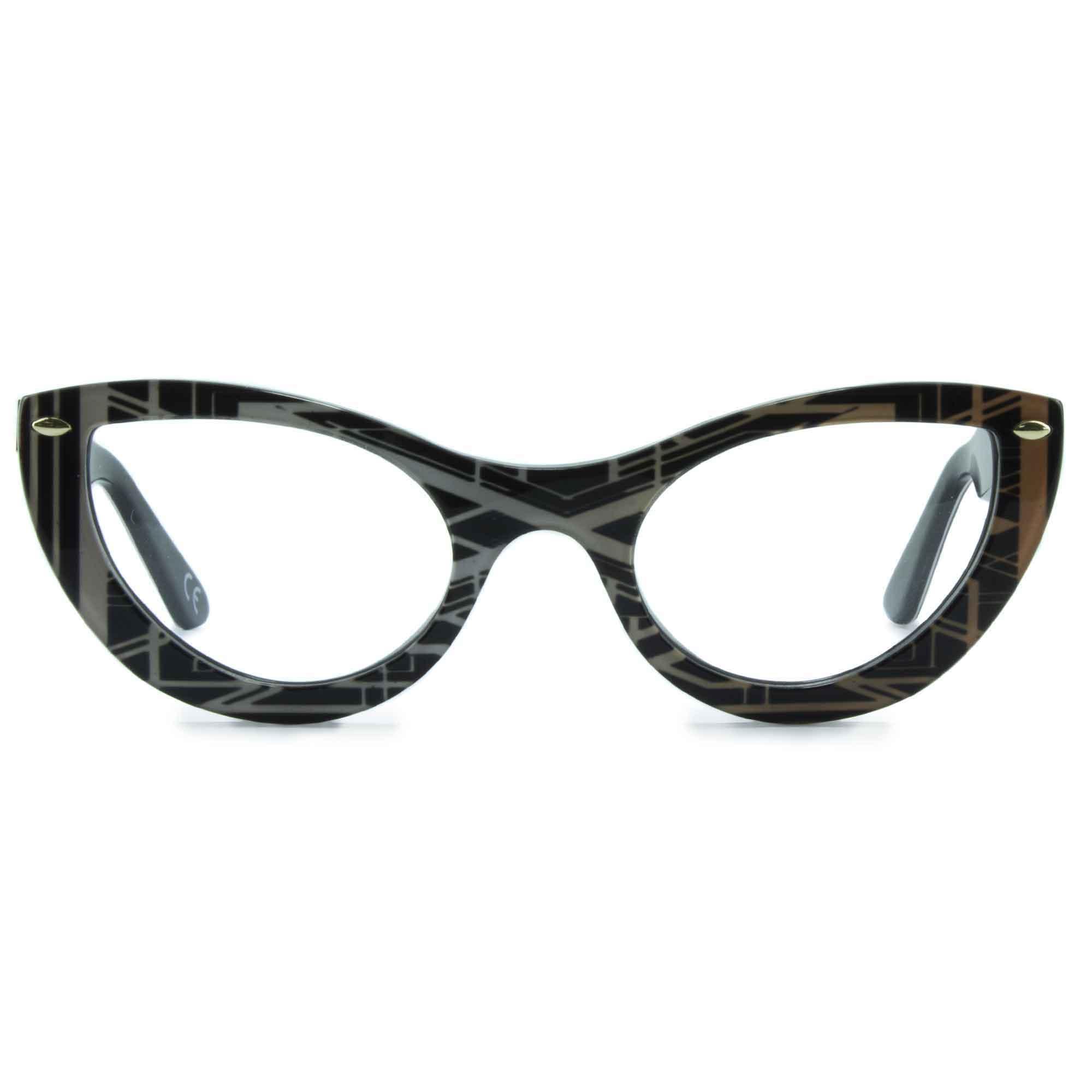 Joiuss gatsby black & gold cat eye glasses