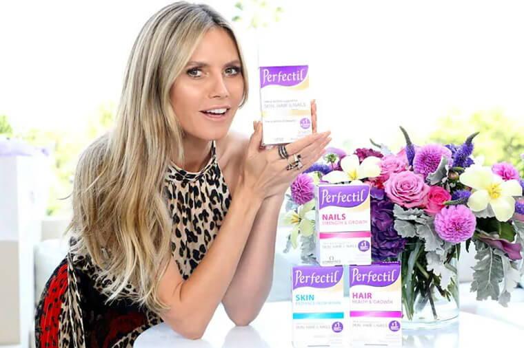 Image Of Heidi Klum Holding Perfectil Product