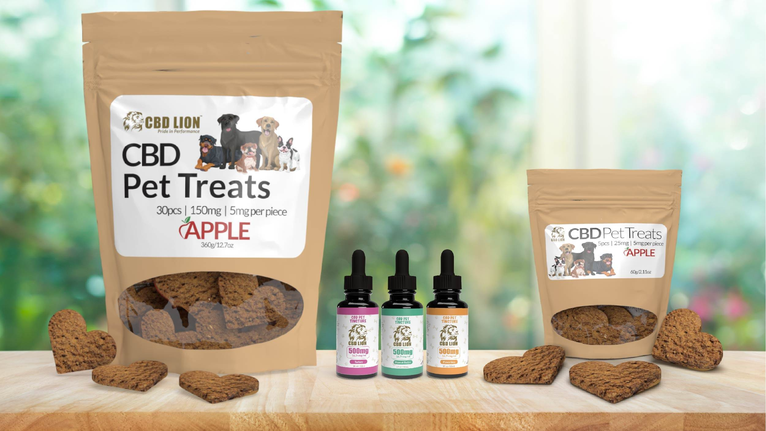 CBD LION's CBD oil and treats for dogs
