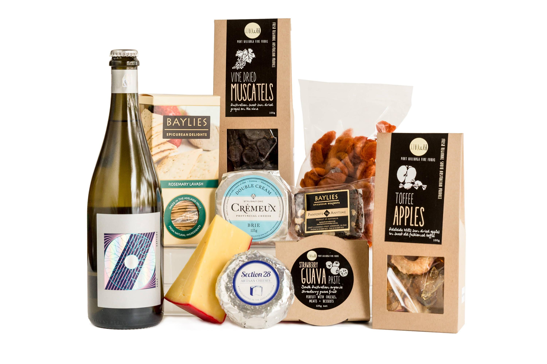Celebration cheese and wine hamper