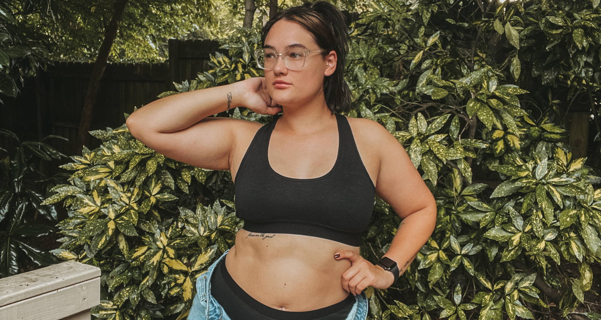 A woman celebrates World Vegan Day by wearing sustainable hemp underwear from WAMA
