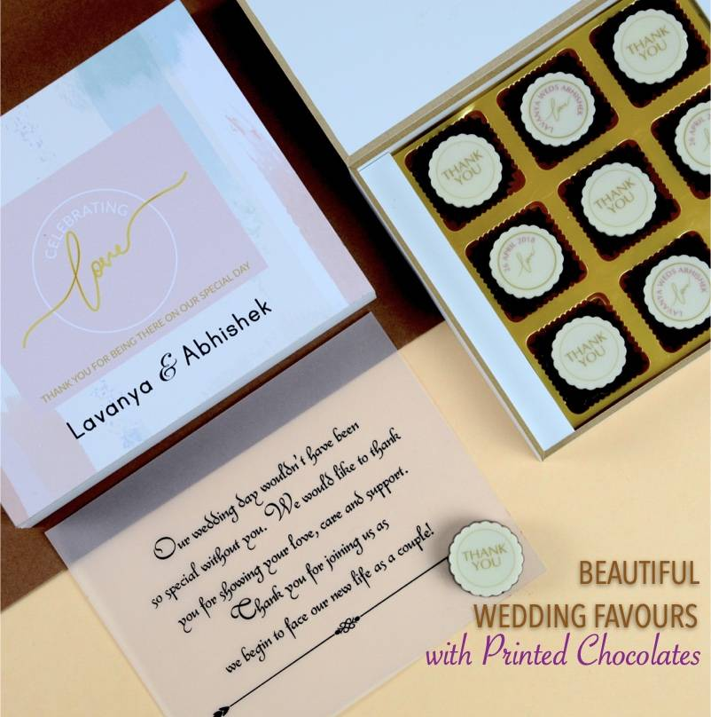 Chocolates for wedding return gifts