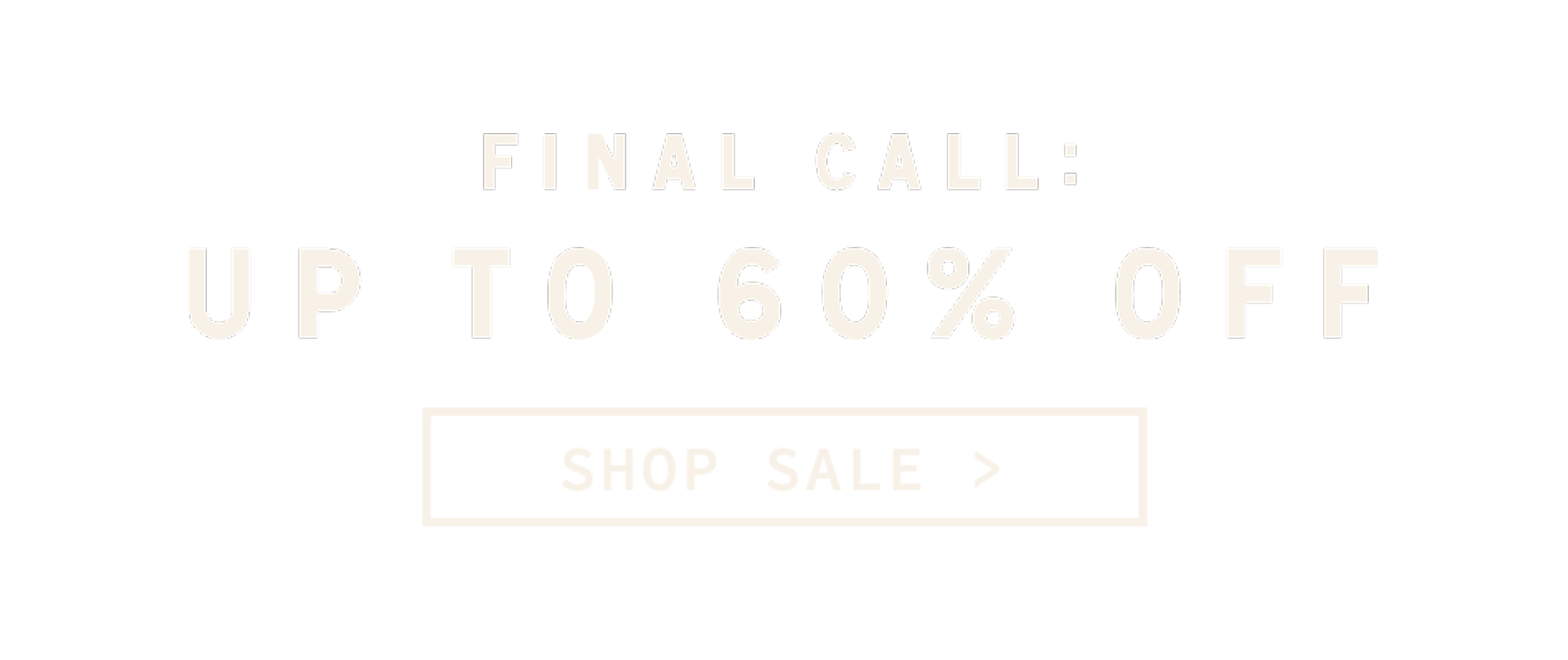 Parks Project | Final Call Sale