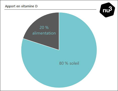 Apport en vitamine D : diagramme