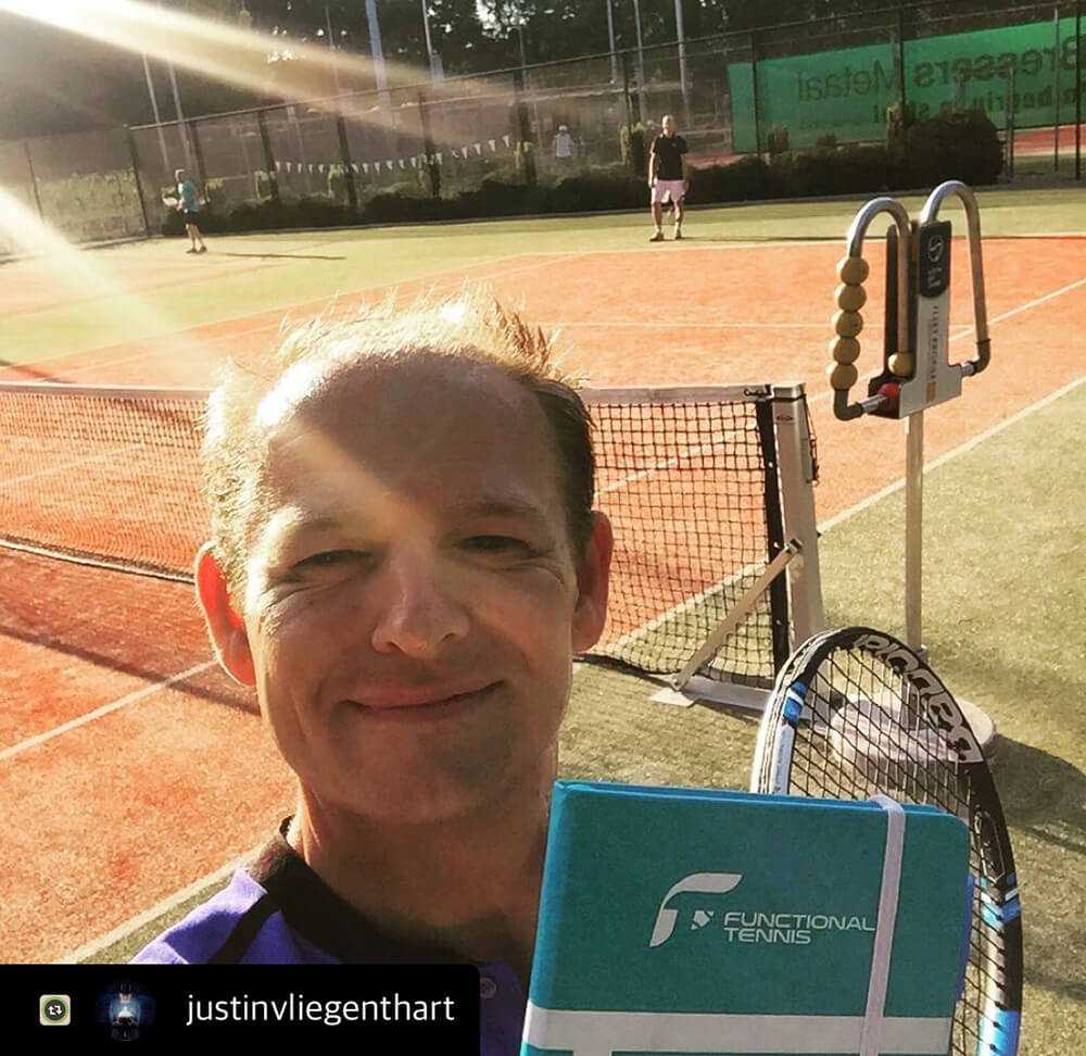Justin with his Functional Tennis Journal