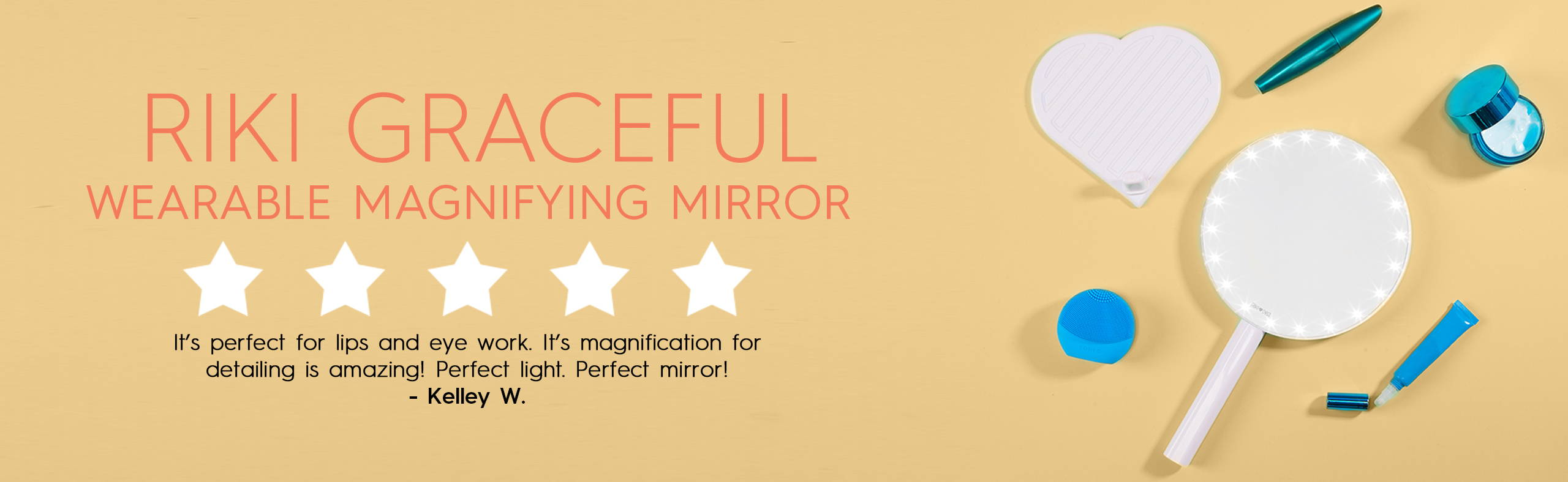 RIKI GRACEFUL is the best wearable magnifying makeup vanity with lights