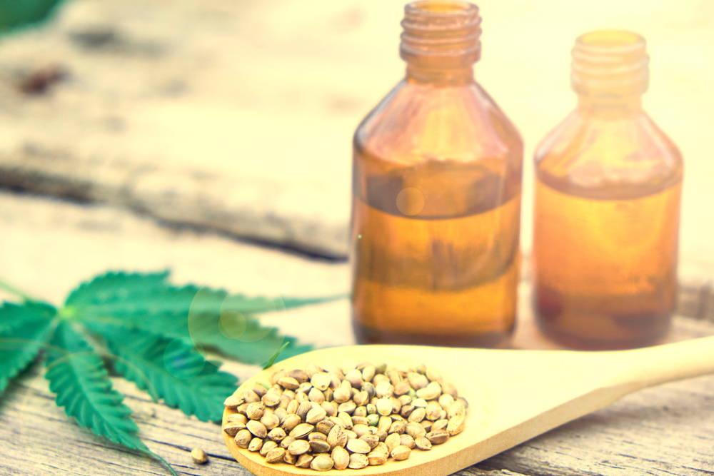 CBD oil Cannabis Leaf