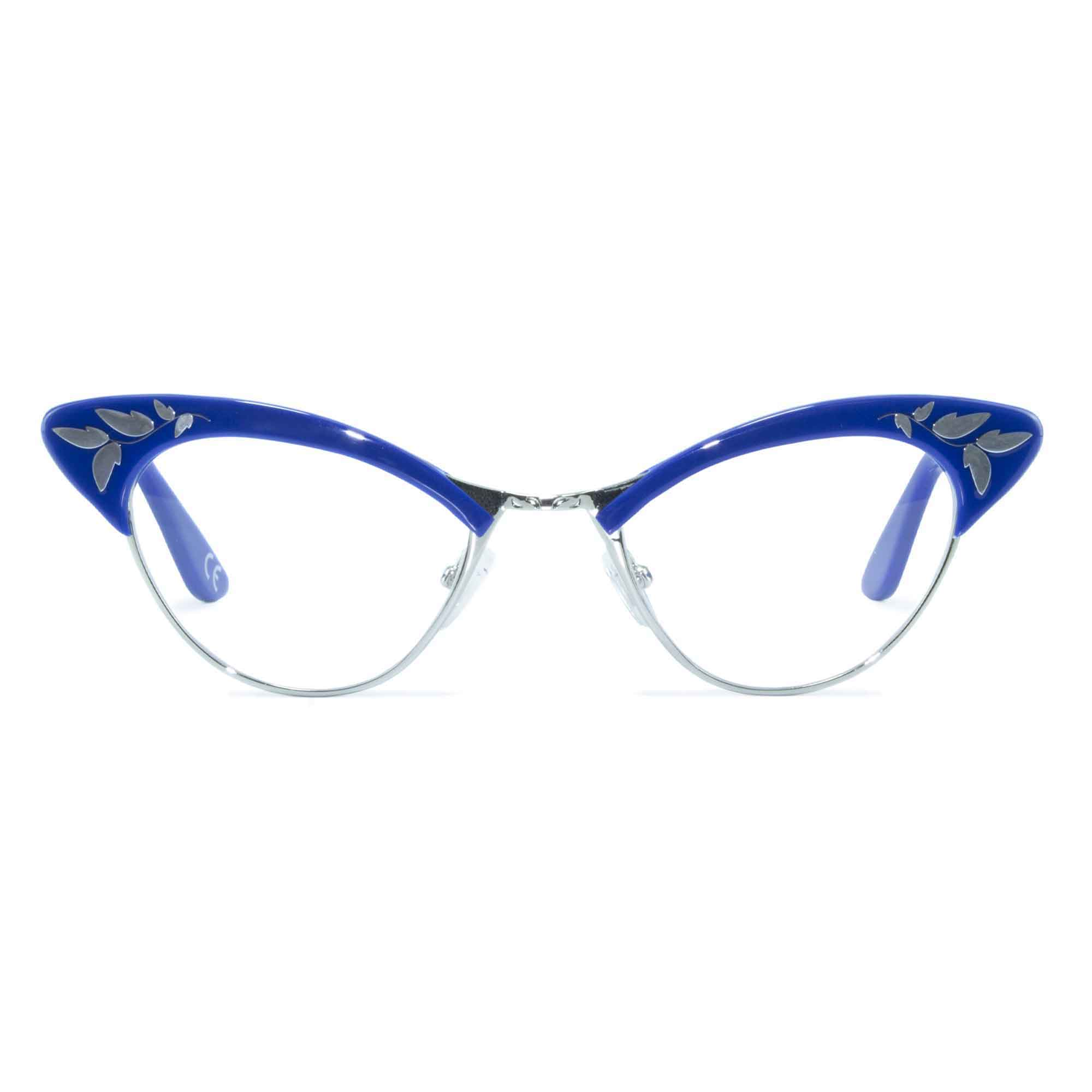 Joiuss rita blue & gold cat eye glasses
