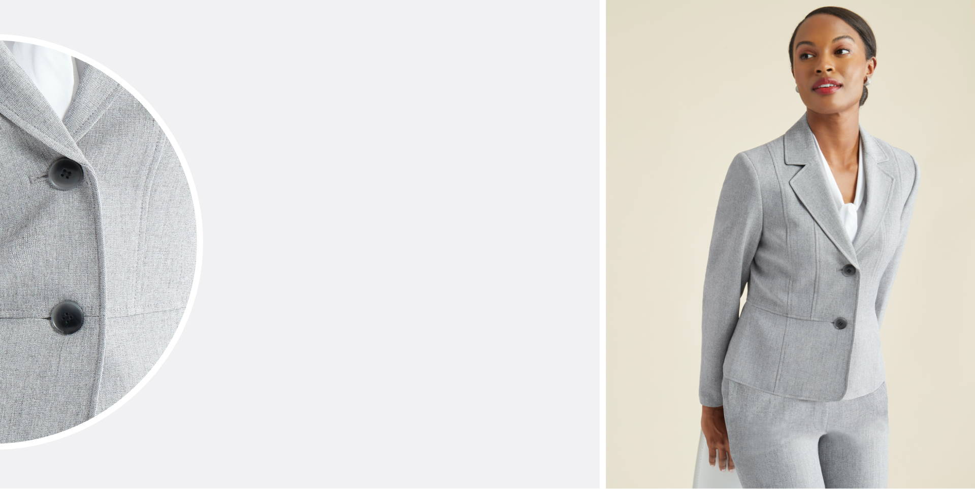 Size Guide Header - Grey Suiting