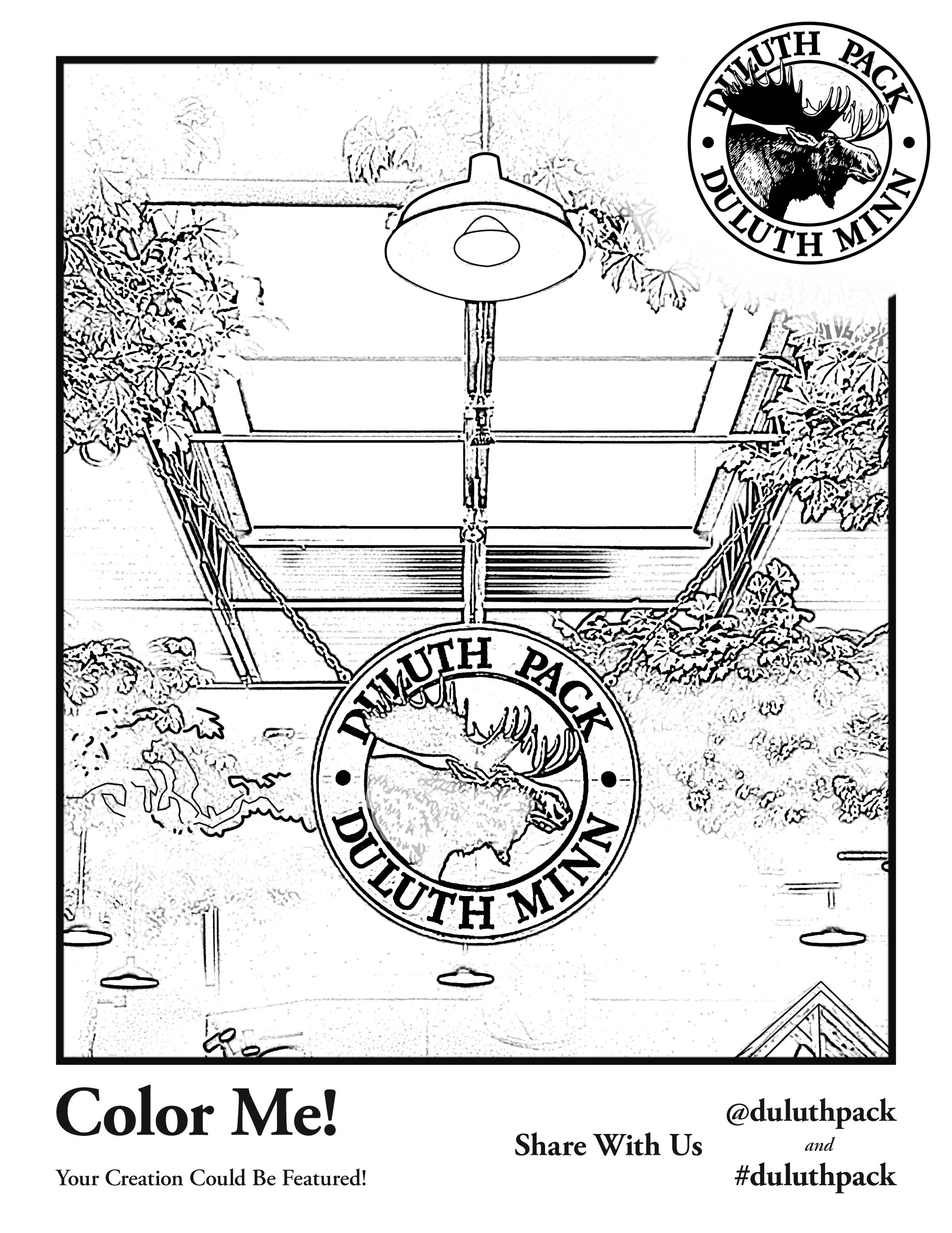 Retail Store Coloring Page