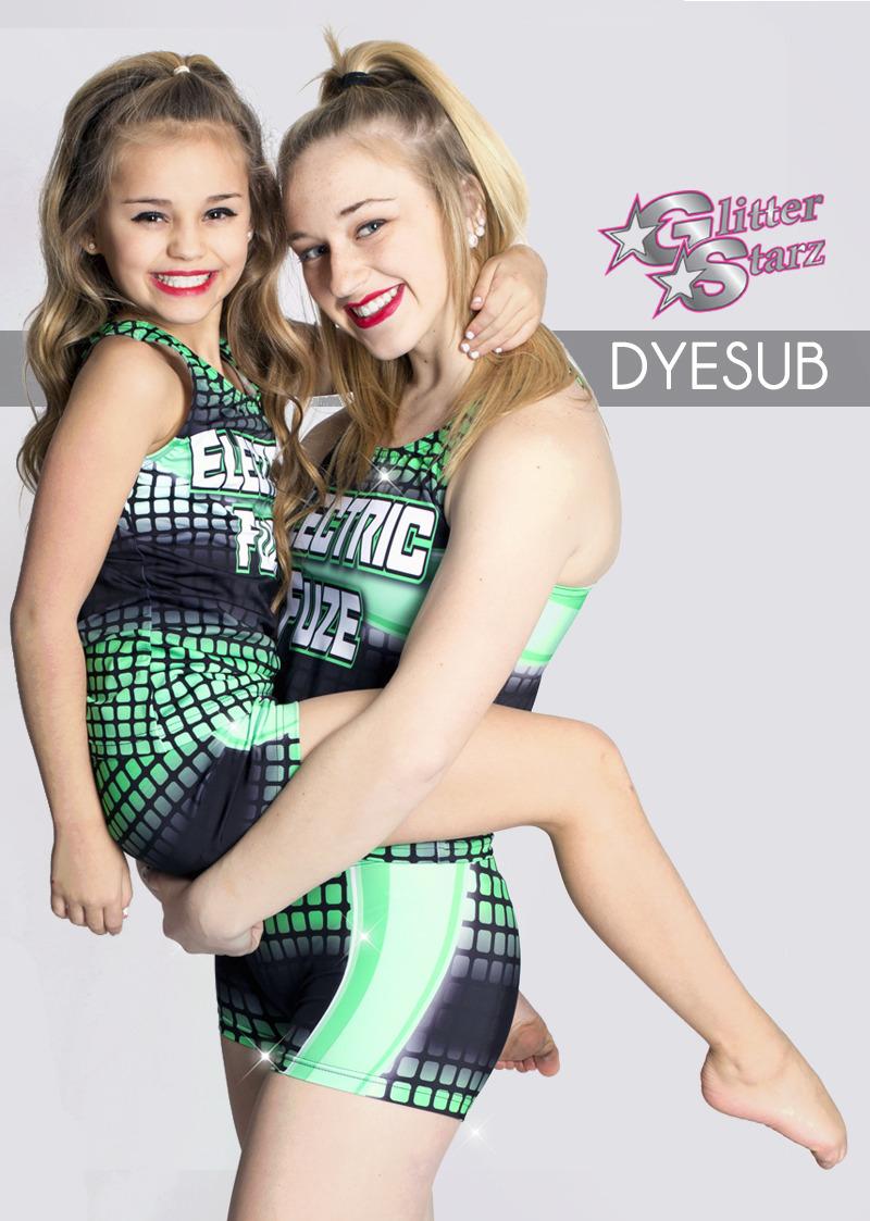 glitterstarz dye sub practicewear for cheer and dance stretchy performance teamwear
