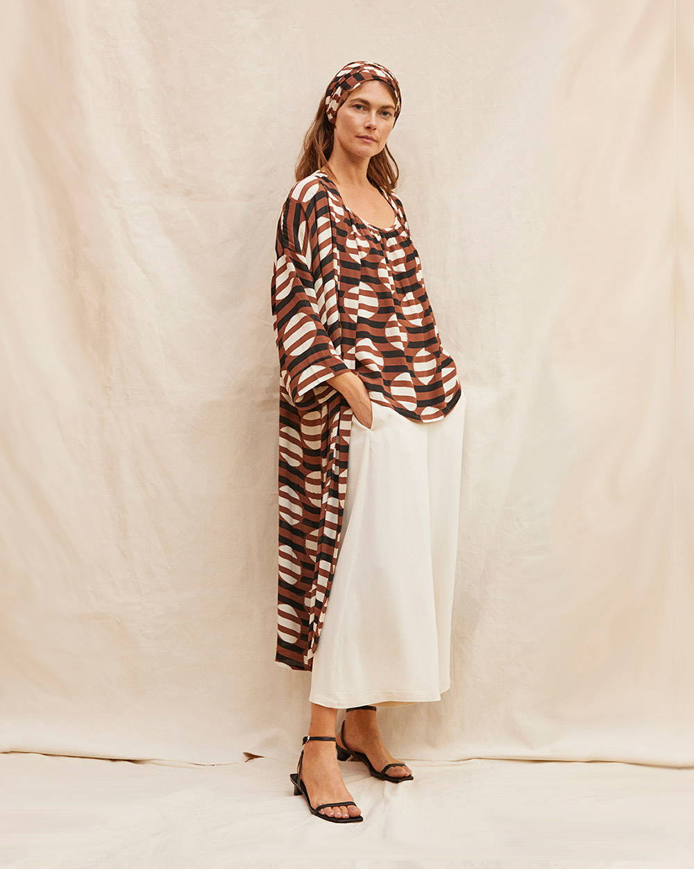 Jossla Duster with the Edie Tank Top and Pamel Culotte - Editorial