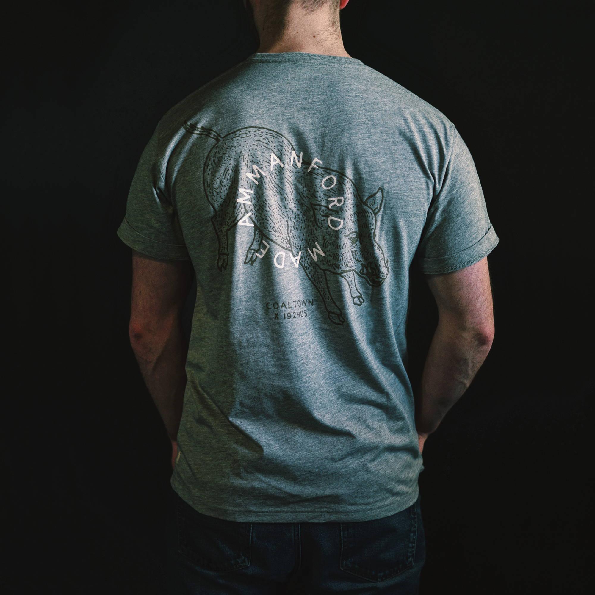 Coaltown Ammanford Made T-shirt Grey
